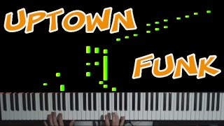 Uptown Funk - Bruno Mars - INCREDIBLE Piano Cover (Tutorial Synthesia) + FREE SHEETS !!