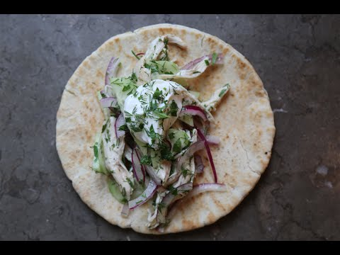 Greek Chicken Pita Recipe | SAM THE COOKING GUY