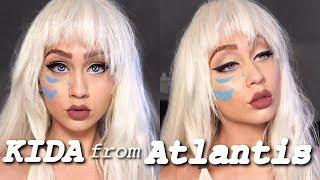 following a makeup tutorial