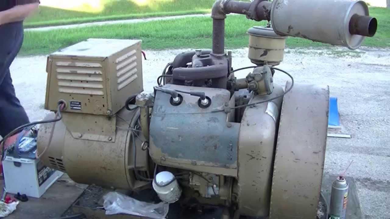 10 Kw Kohler Generator Cold Start Zeketheantiquefreak Youtube 50 Amp Single Phase 120 240 V Standby With Circuit