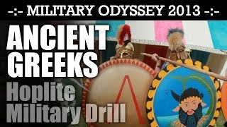 Ancient Greek Hoplite Drill SEE THEM IN FORMATION! Military Odyssey 2013 | HD Video