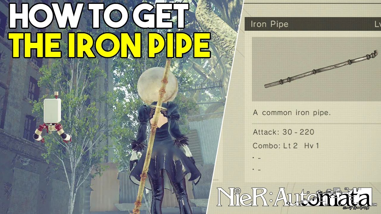 Nier Automata How To Get The Iron Pipe Secret Weapon Location Youtube