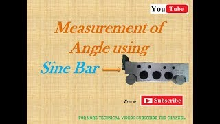 Measure angle using Sine Bar