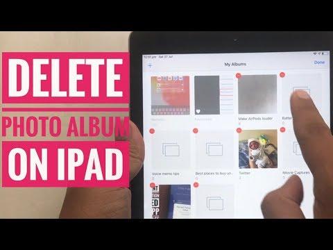 How To Delete Unwanted Photos Album In Photos App On IPad Pro, Air, Mini: IPadOS