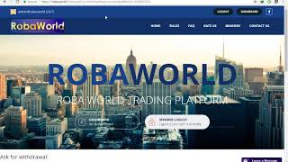 Roba.World live withdrawal proof #3 | They are paying