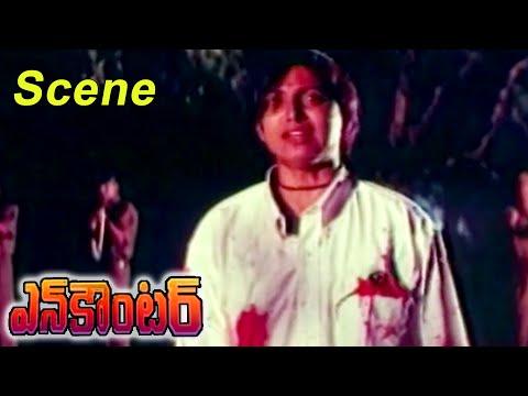 Encounter Movie || Roja Encounter Scene || Krishna,Ramesh Babu,Radhika,Roja
