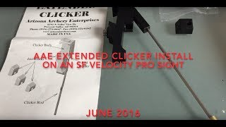 AAE clicker installation on an SF Velocity Pro Carbon SIght