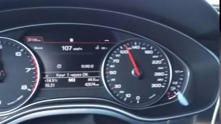 Audi A6 C7 Дополнительное меню. Тест кругов