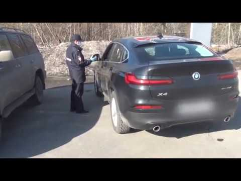 Нарушительница карантина на BMW в Томске
