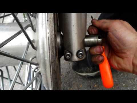 Honda Shadow Spirit  Remove the front wheel  Step  step