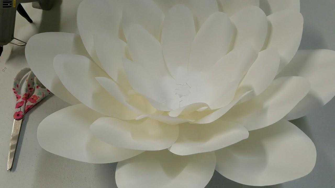 Paper Flower Tutorial Template 9