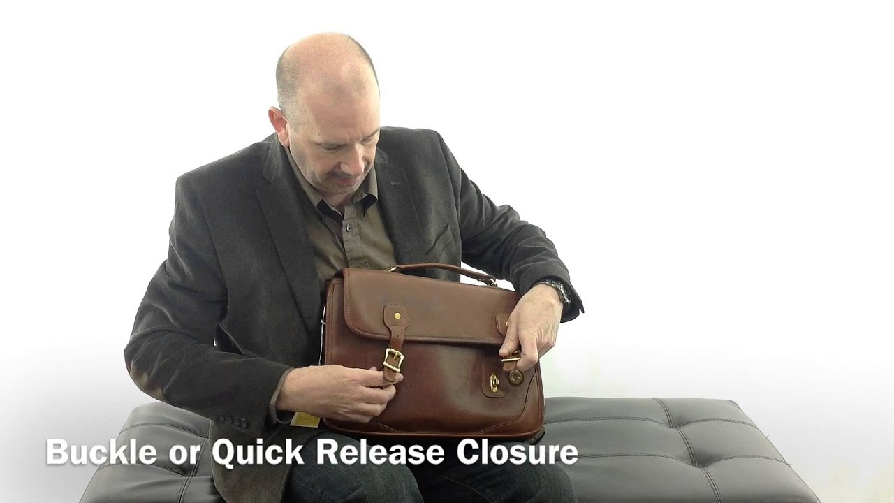 Jw Hulme Brief Bag Usa Made Leather Briefcase