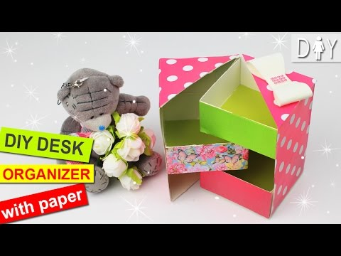 DIY DESK ORGANIZER with PAPER