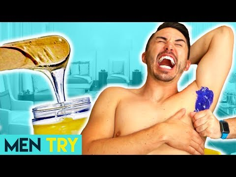 Men Try Painless Wax Vs Normal Wax - Waxing Hair Removal