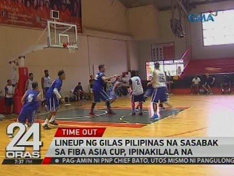 Lineup ng Gilas Pilipinas na sasabak sa FIBA Asia Cup, ipinakilala na