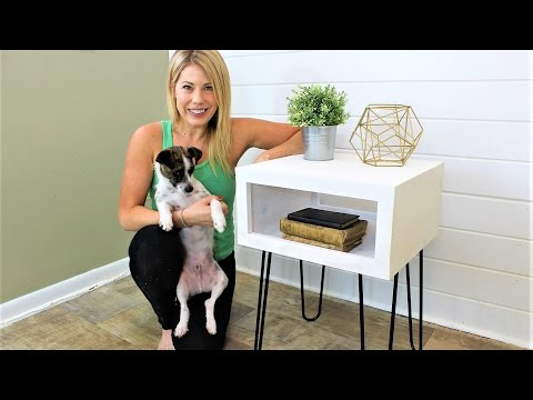 The Mid-Century Modern Nightstand - Easy DIY Project
