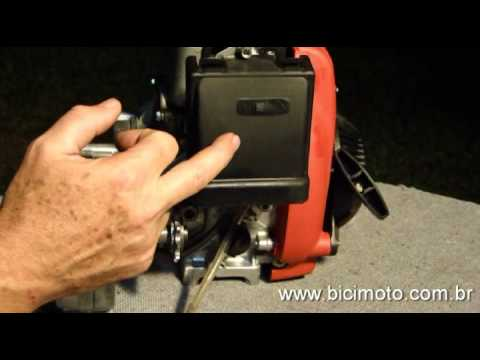 Motor Bicimoto 50cc. 4 tempos - Carburador, mangueiras e filtro de ar