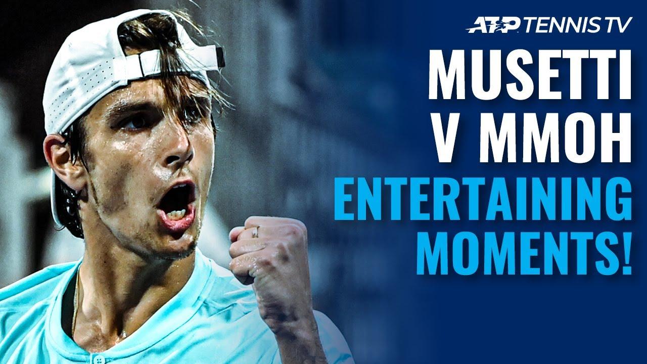 Lorenzo Musetti vs Michael Mmoh: Entertaining Moments! | Miami 2021 Highlights