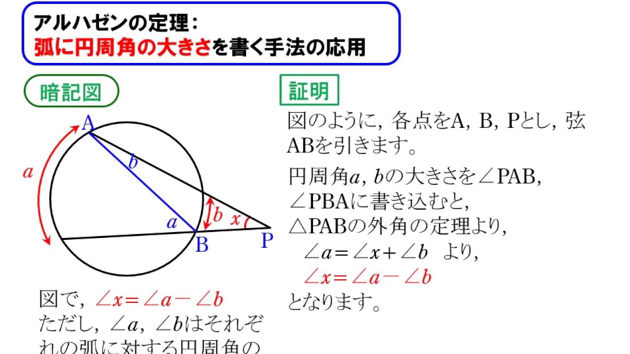 円と角度08:アルハゼンの定理 -...