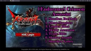 Kritika: The White Knights Crimson Assassin Awakened Skills Preview (Red and Blue path)