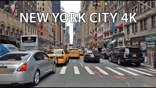Driving Downtown - Time Square - New York City NY USA