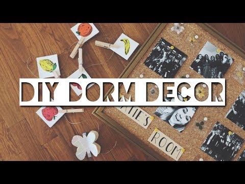 DIY DORM ROOM DECOR | College Wall Decor Projects