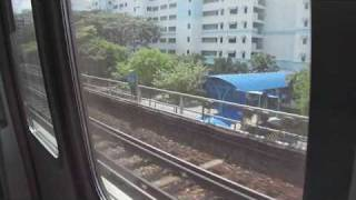 SMRT C151 129-130 - Train ride from Woodlands to Sembawang (Southbound)