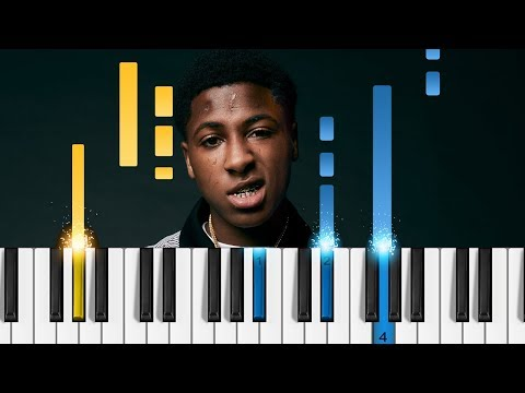 YoungBoy Never Broke Again - Nicki Minaj - EASY Piano Tutorial