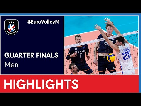 The Netherlands vs. Serbia Highlights - #EuroVolleyM