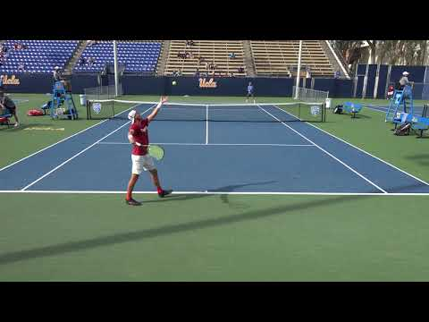 03 30 2018 Zhu (UCLA) Vs Geller (Stanford) #2 men's tennis singles