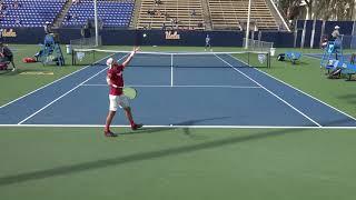 03 30 2018 Zhu (UCLA) Vs Geller (Stanford) #2 men's tennis singles