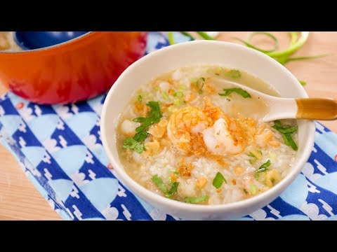 "Thai Breakfast Rice Soup Recipe ""Kao Tom"" – Hot Thai Kitchen! ข้าวต้มกุ้ง"