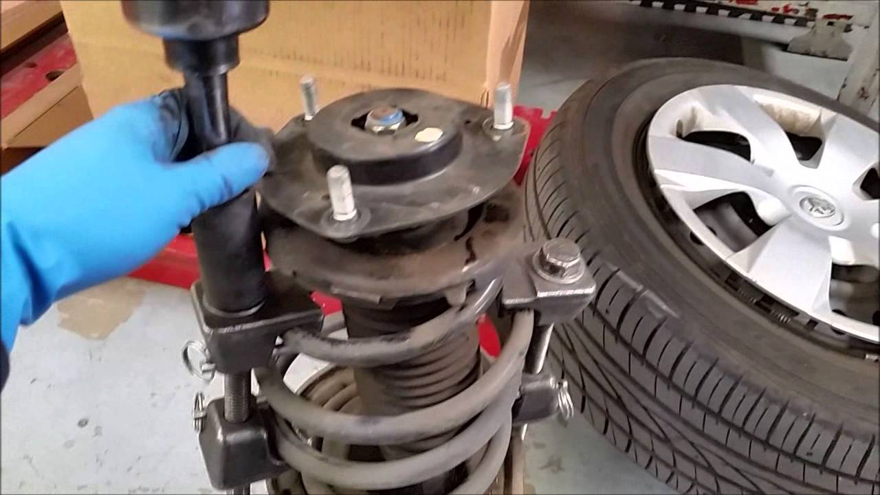 Front Strut Replacement DIY Toyota Camry YouTube
