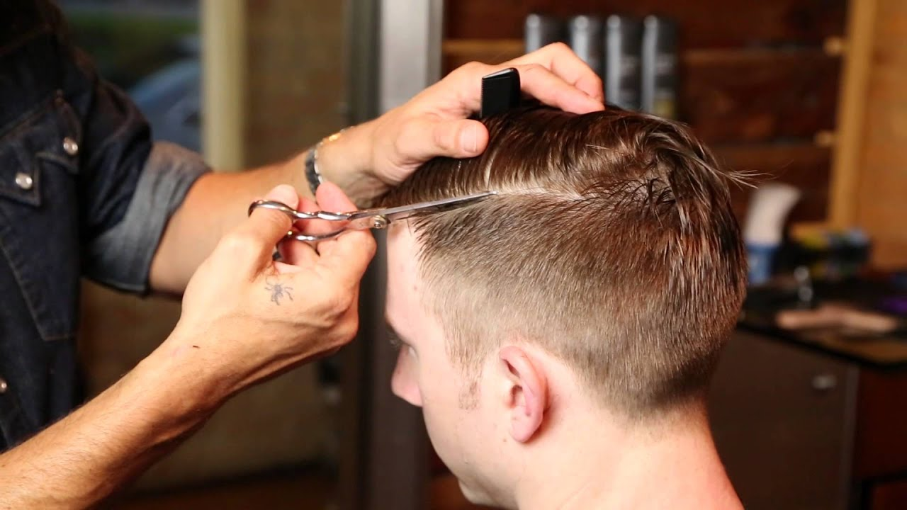 Salon Hair Cut Styles: Barbering Haircut Techniques : Looking Sharp: Men's Hair