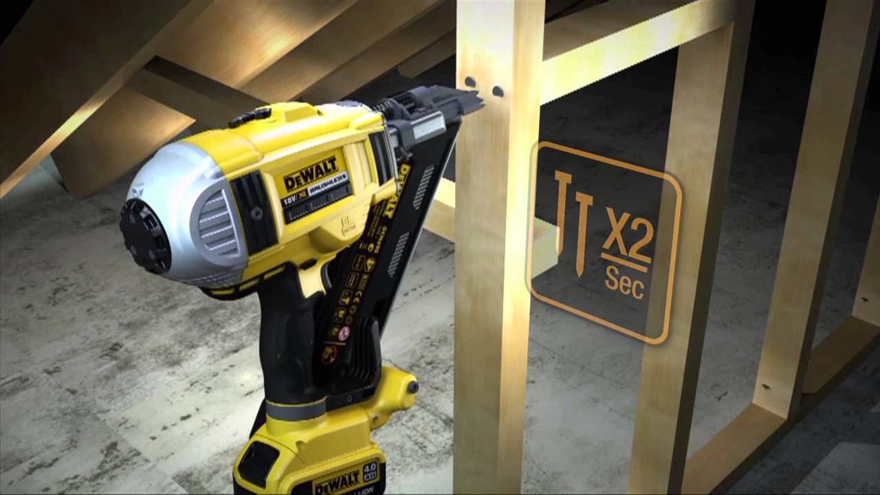 Akku Nagler DeWalt - YouTube