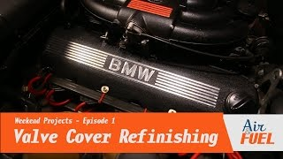 E30 Valve Cover Refinishing - Wrinkle Finish