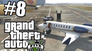 GTA V #8 Аэропорт, полет, военная база!