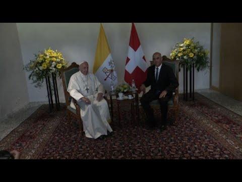 Pope Francis arrives in Geneva, Switzerland