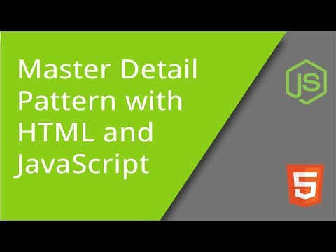Master Detail Pattern With HTML And JavaScript