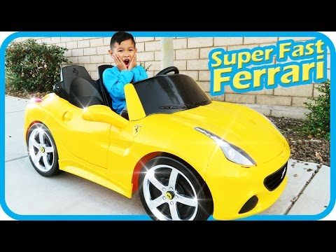Thumbnail: Unboxing New Ferrari Battery Powered Ride On Super Fast Car 12V Power Wheels Test Drive, TigerBox HD