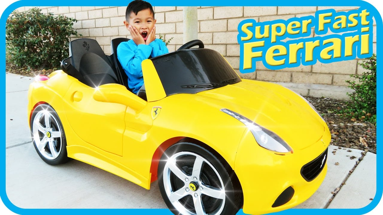 Unboxing New Ferrari Battery Powered Ride On Super Fast Car 12v Power Wheels Test Drive Tigerbox Hd Youtube