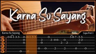 Download Video Karna Su Sayang-Near Ft Dian Sorowea Cover Fingerstyle | TAB MP3 3GP MP4