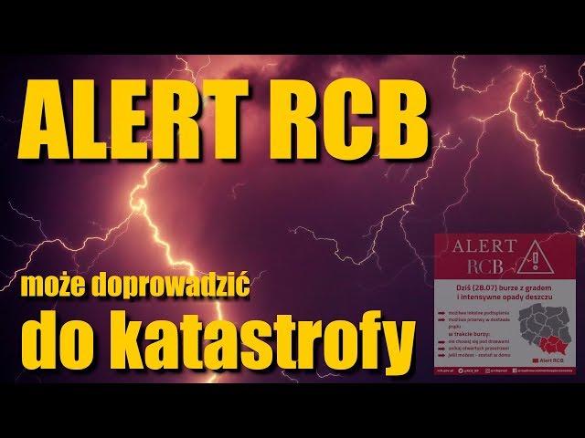 UWAGA! ALERT RCB może doprowadzić do katastrofy