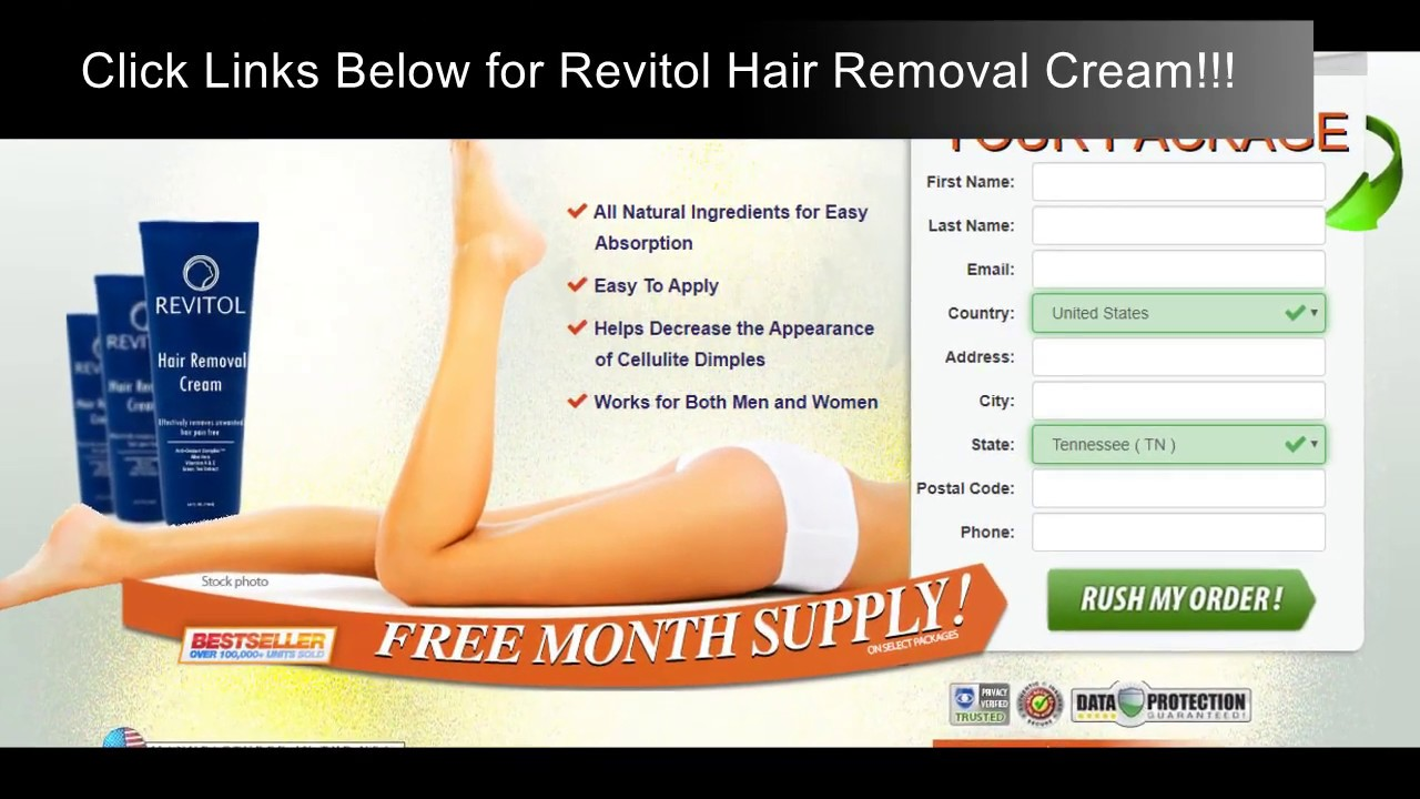 Revitol Hair Removal Cream Price Free Month Supply Available