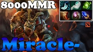 Dota 2 - Miracle- 8000MMR Plays Earth Shaker vol 11 - Ranked Match Gameplay
