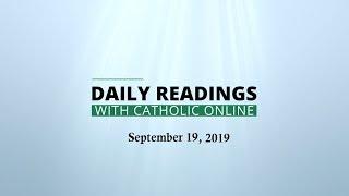 Daily Reading for Thursday, September 19th, 2019 HD Video