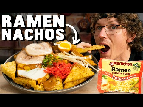 Josh Makes Instant Ramen Nachos - Mythical Kitchen