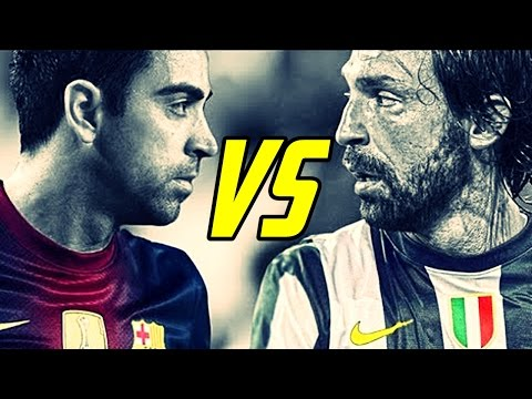 Andrea Pirlo Vs Xavi Hernandez - Ultimate Best Skills Show Ever | Barcelona Vs Juventus
