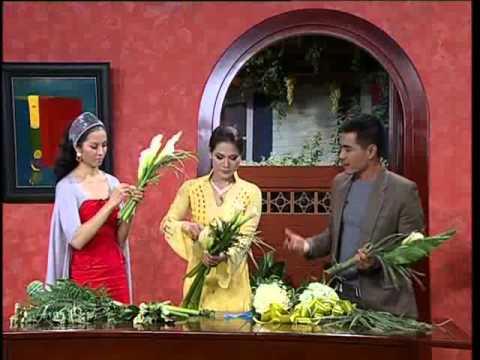 Sức sống mới   Dạy bó hoa cưới hoa loa kèn