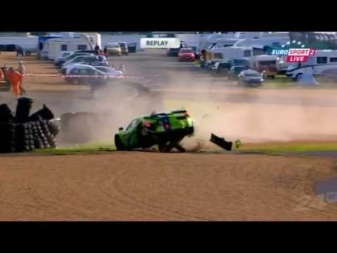 24 hours of le mans practice big crash tracy krohn ferrari